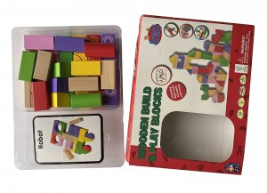 Wooden Build And Play Blocks