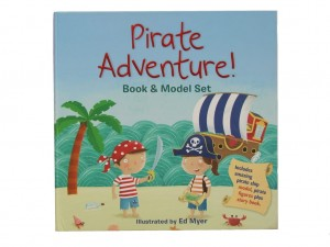 Pirate Adventure Book & Model Set