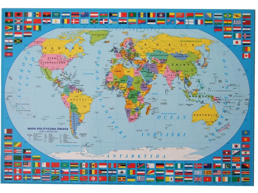 Tablica Edukacyjna Matematyka Mapa Polityczna Swiata Wydawnictwo